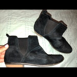 Black booties from Nordstrom